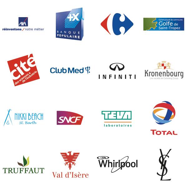 Logos de clients de clés USB personnalisées ayant déjà fait faire des clés USB publicitaires à myusb.lu