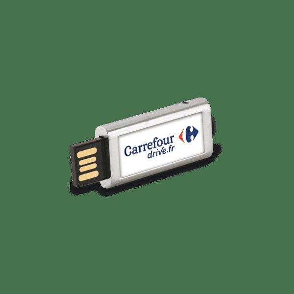 Clé USB publicitaire rétractable Slide
